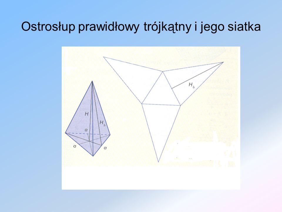 Ostrosłup prawidłowy trójkątny i jego siatka