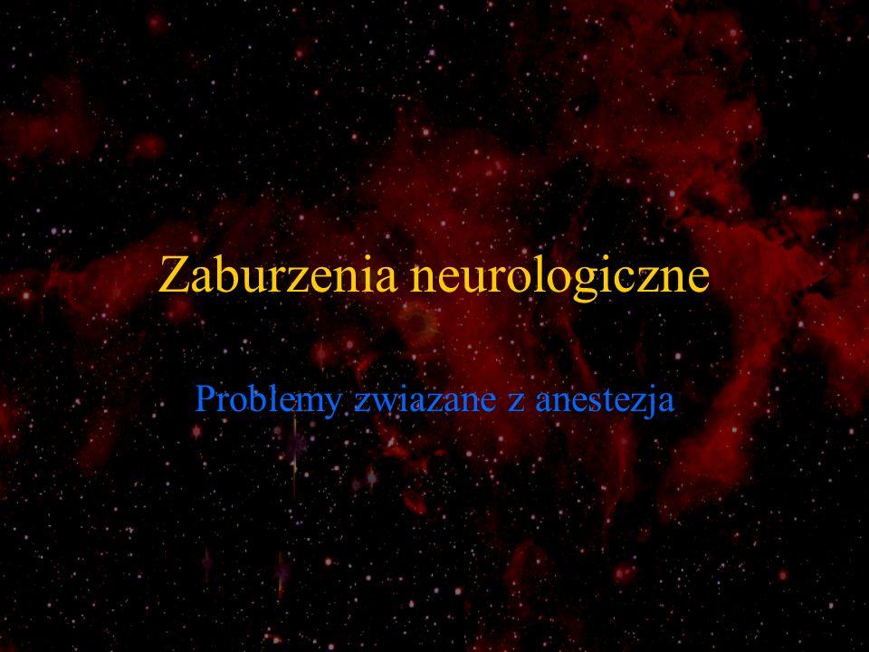 Zaburzenia neurologiczne