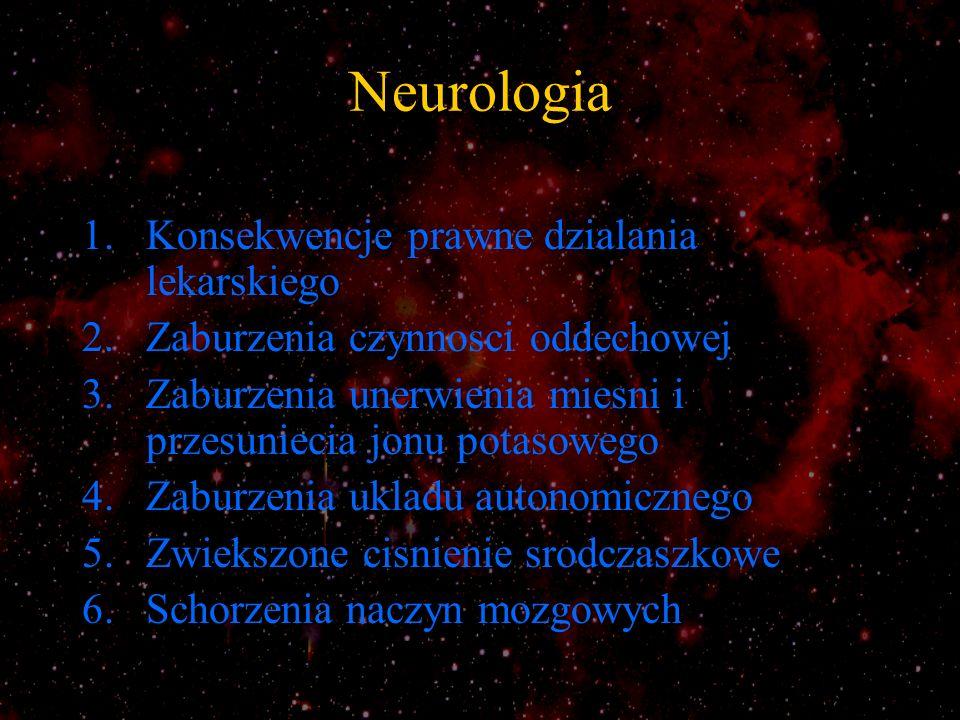 Neurologia Konsekwencje prawne dzialania lekarskiego
