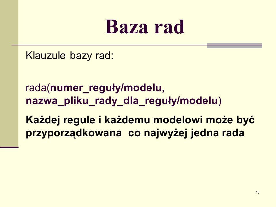 Baza rad Klauzule bazy rad: