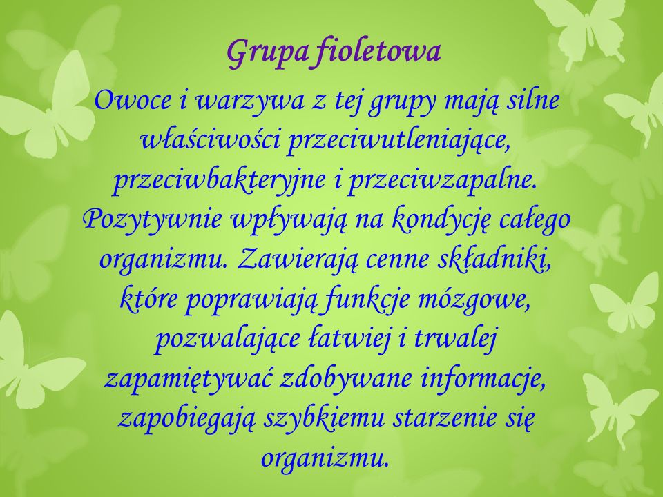 Grupa fioletowa
