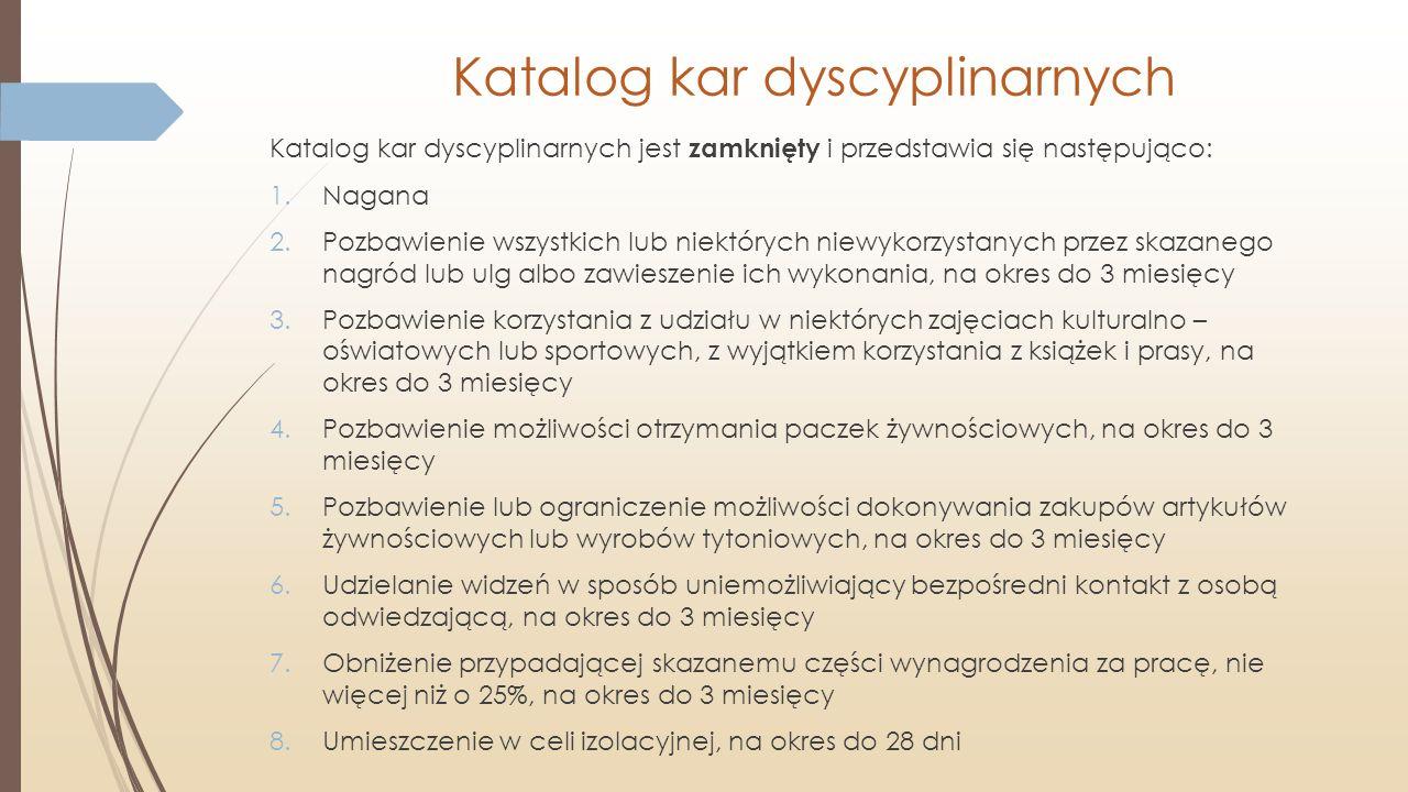 Katalog kar dyscyplinarnych