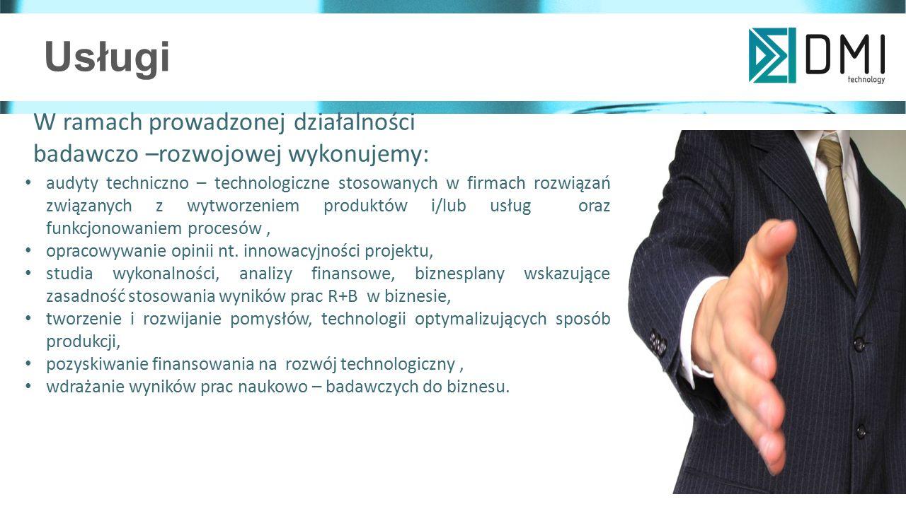 Usługi W ramach prowadzonej działalności badawczo –rozwojowej wykonujemy: