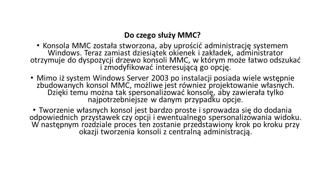 Do czego służy MMC