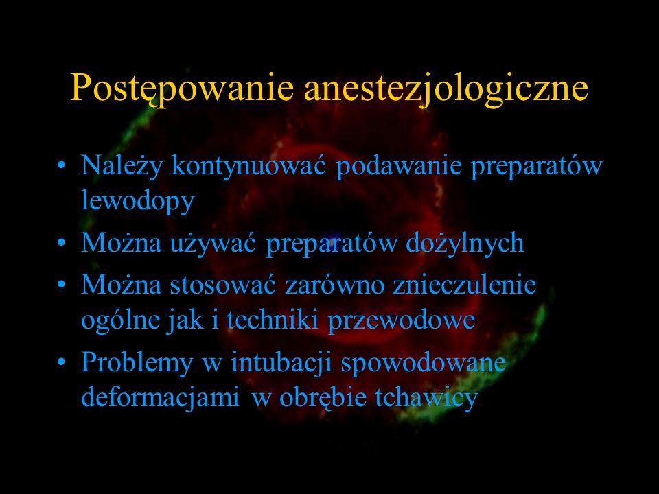 Postępowanie anestezjologiczne