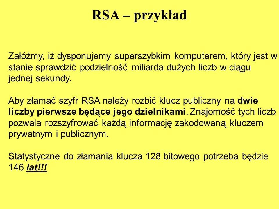 RSA – przykład