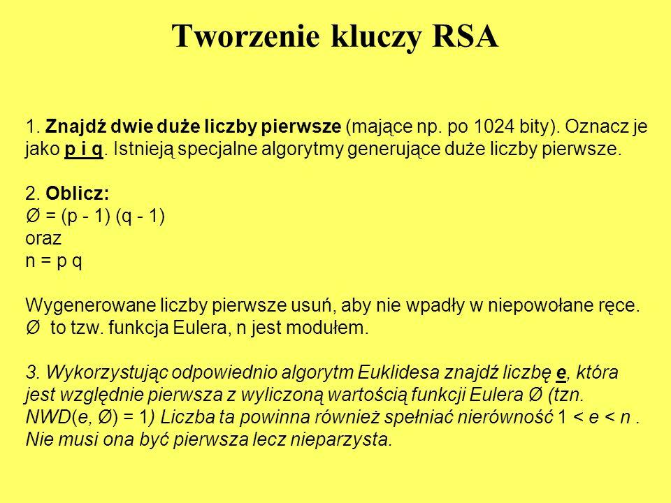 Tworzenie kluczy RSA