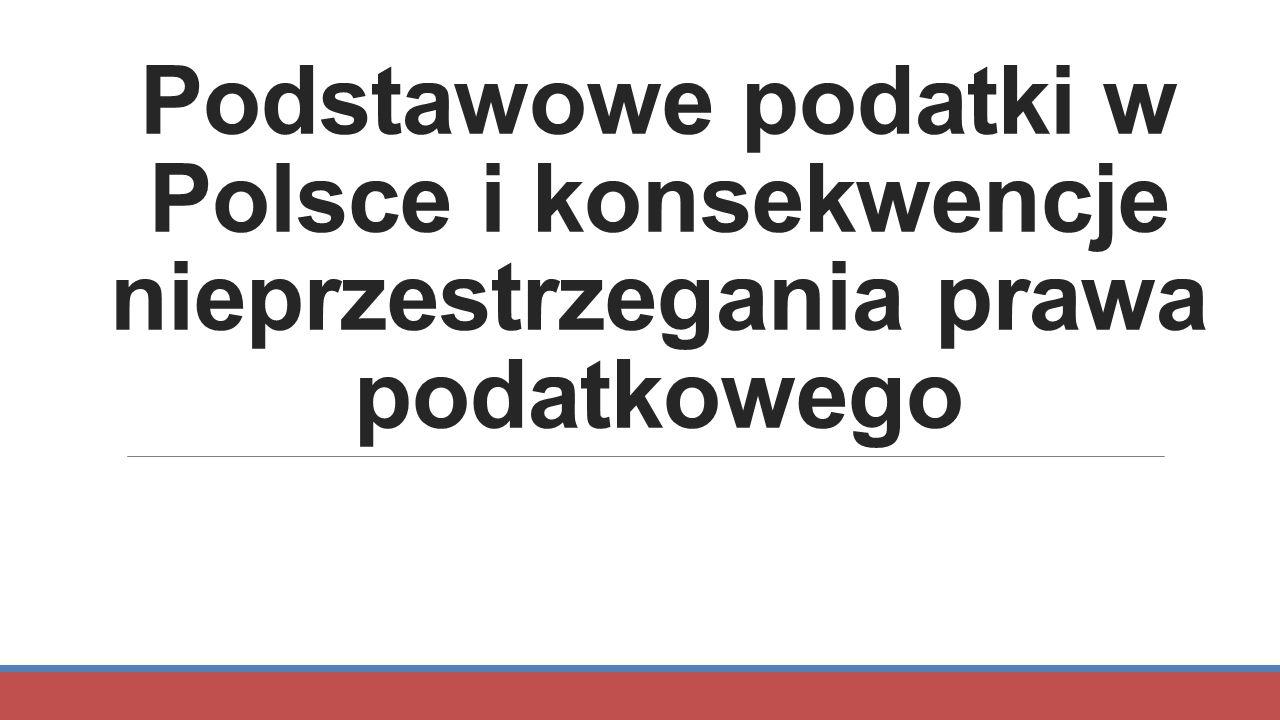 Podstawowe podatki w Polsce i konsekwencje nieprzestrzegania prawa podatkowego