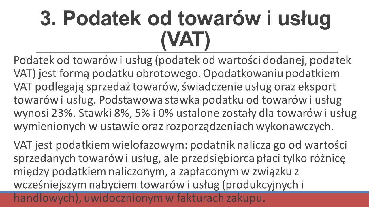 3. Podatek od towarów i usług (VAT)