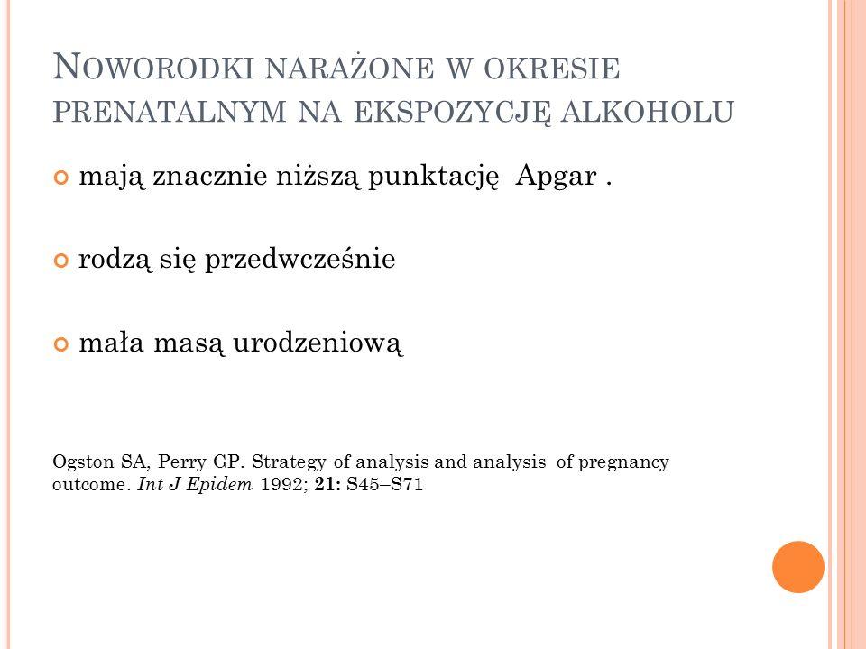 Noworodki narażone w okresie prenatalnym na ekspozycję alkoholu