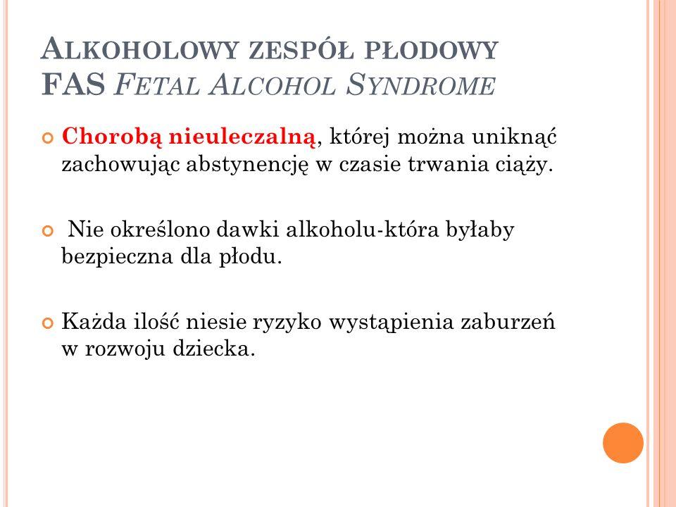 Alkoholowy zespół płodowy FAS Fetal Alcohol Syndrome