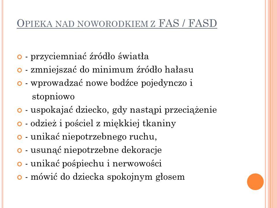 Opieka nad noworodkiem z FAS / FASD