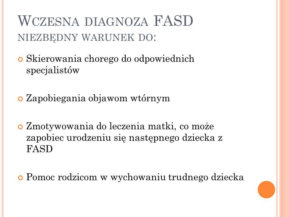 Wczesna diagnoza FASD niezbędny warunek do: