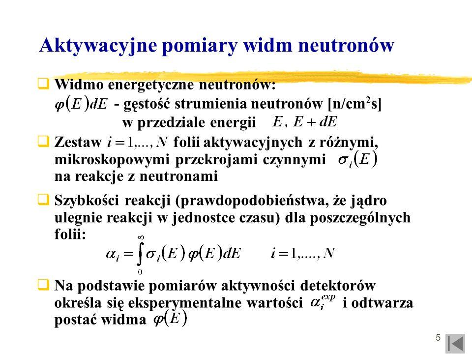 Aktywacyjne pomiary widm neutronów