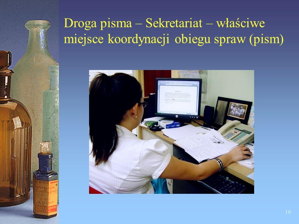 Droga pisma – Sekretariat – właściwe miejsce koordynacji obiegu spraw (pism)