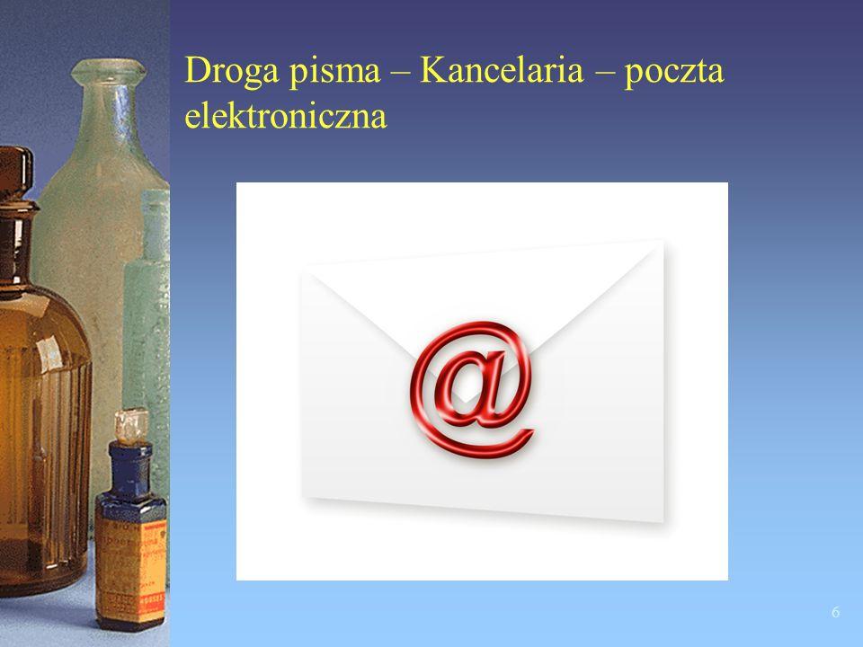 Droga pisma – Kancelaria – poczta elektroniczna