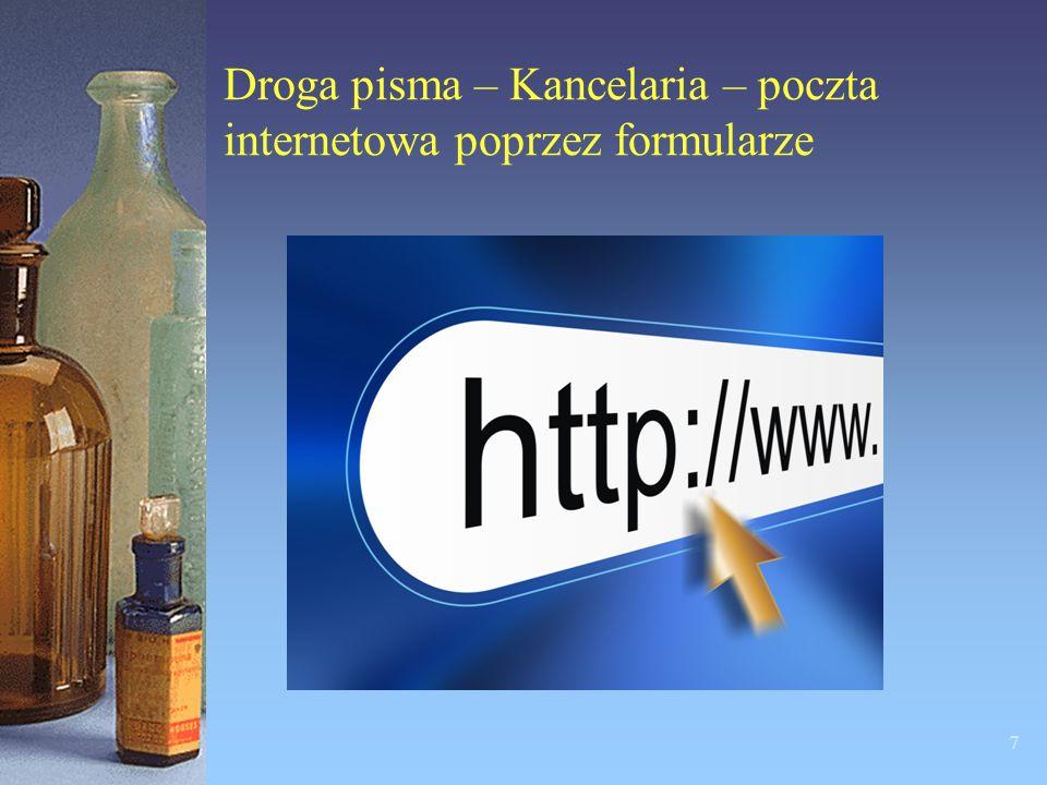 Droga pisma – Kancelaria – poczta internetowa poprzez formularze