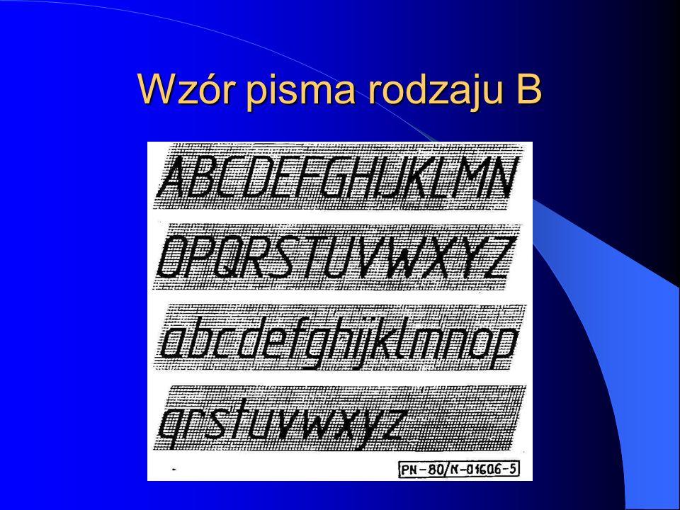 Wzór pisma rodzaju B