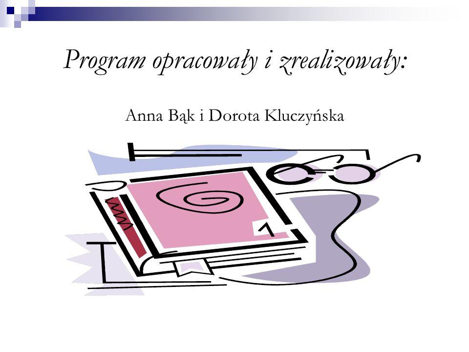 Program opracowały i zrealizowały: