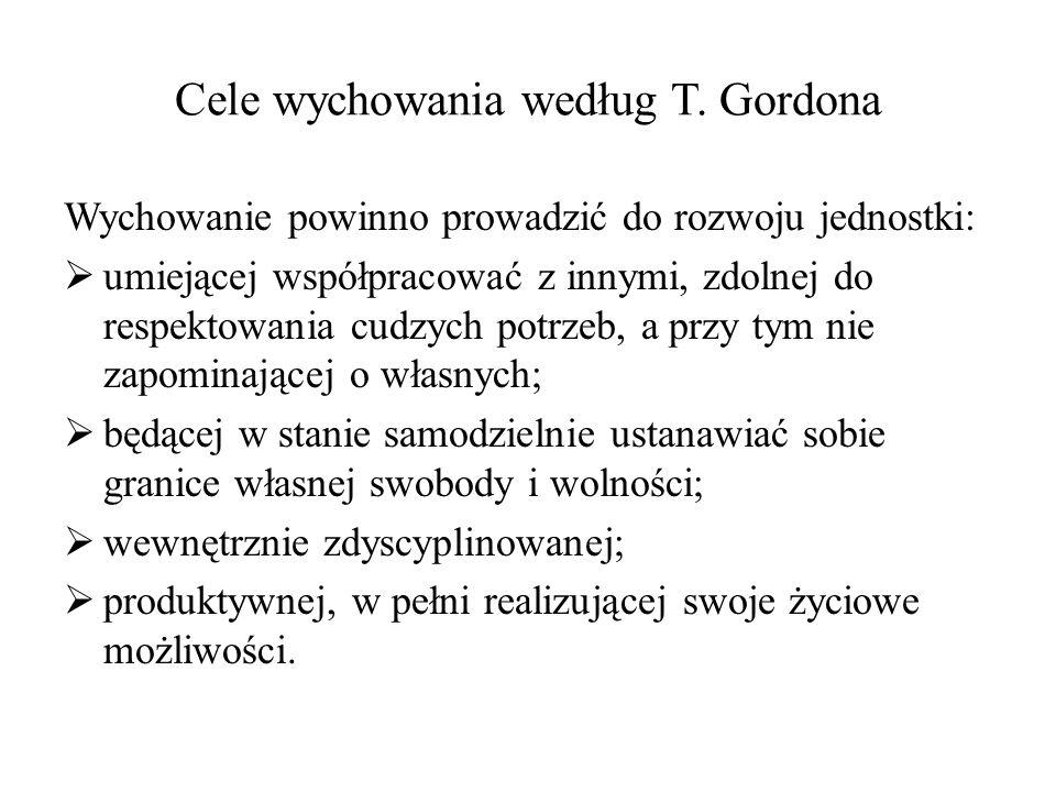 Cele wychowania według T. Gordona