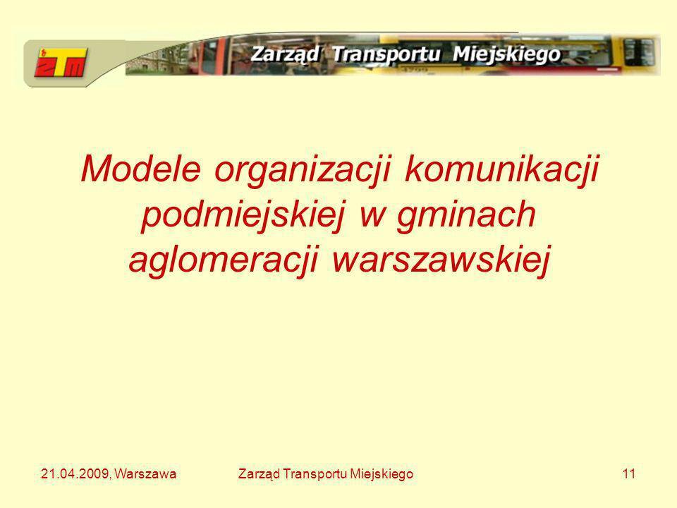 Modele organizacji komunikacji podmiejskiej w gminach aglomeracji warszawskiej