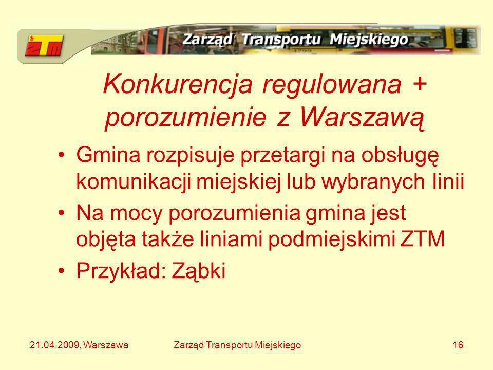 Konkurencja regulowana + porozumienie z Warszawą