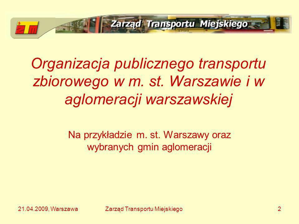 Na przykładzie m. st. Warszawy oraz wybranych gmin aglomeracji