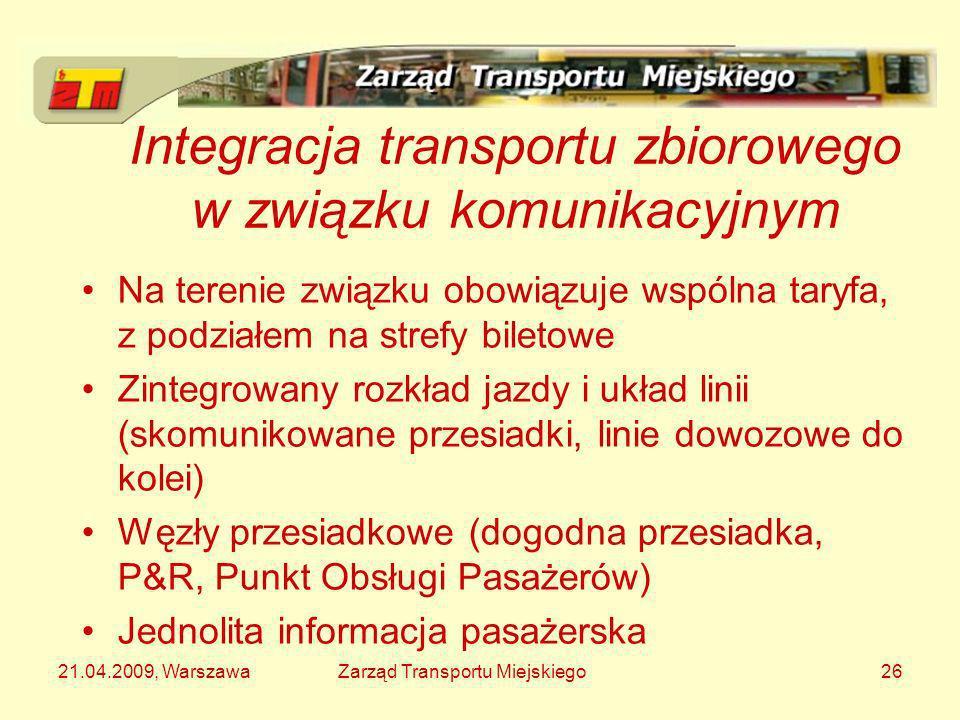 Integracja transportu zbiorowego w związku komunikacyjnym