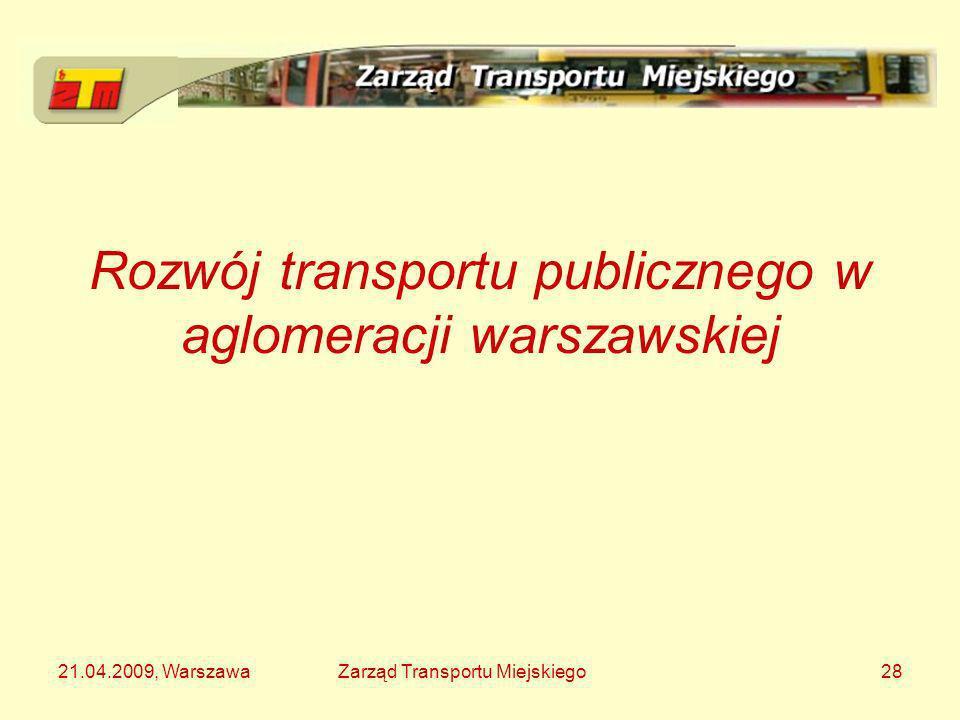 Rozwój transportu publicznego w aglomeracji warszawskiej
