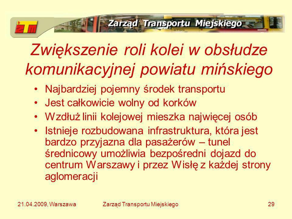 Zwiększenie roli kolei w obsłudze komunikacyjnej powiatu mińskiego