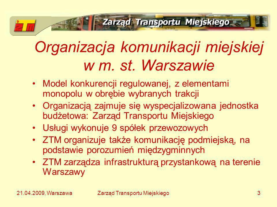 Organizacja komunikacji miejskiej w m. st. Warszawie