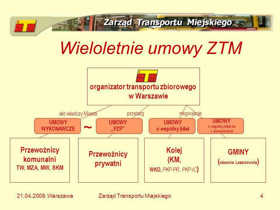 organizator transportu zbiorowego w Warszawie