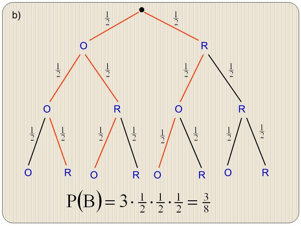 b) O R