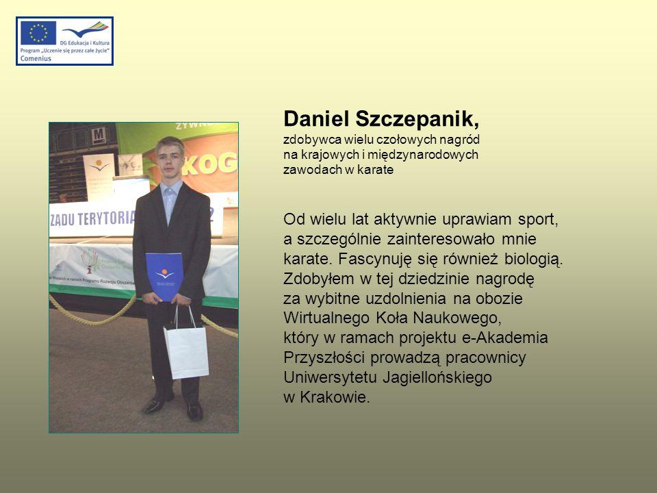 Daniel Szczepanik, zdobywca wielu czołowych nagród na krajowych i międzynarodowych zawodach w karate.