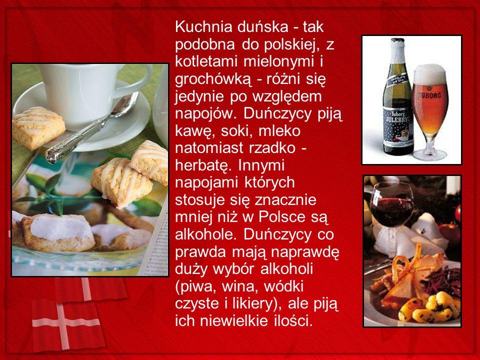 Kuchnia duńska - tak podobna do polskiej, z kotletami mielonymi i grochówką - różni się jedynie po względem napojów.