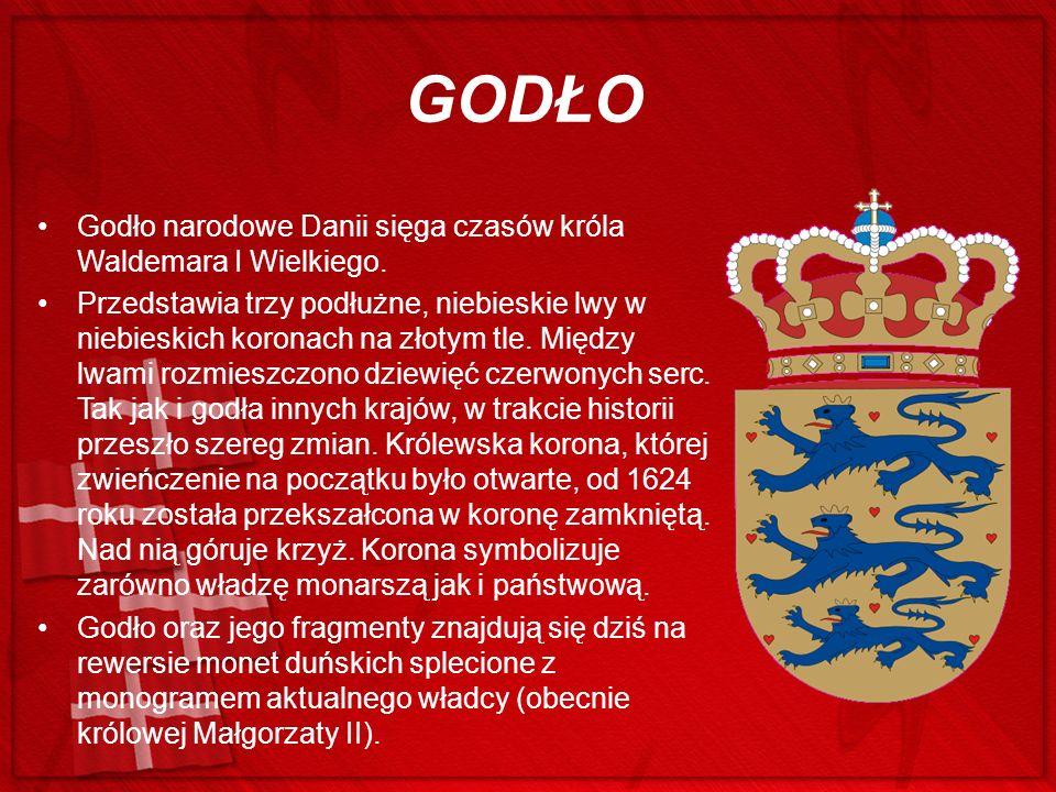 GODŁO Godło narodowe Danii sięga czasów króla Waldemara I Wielkiego.