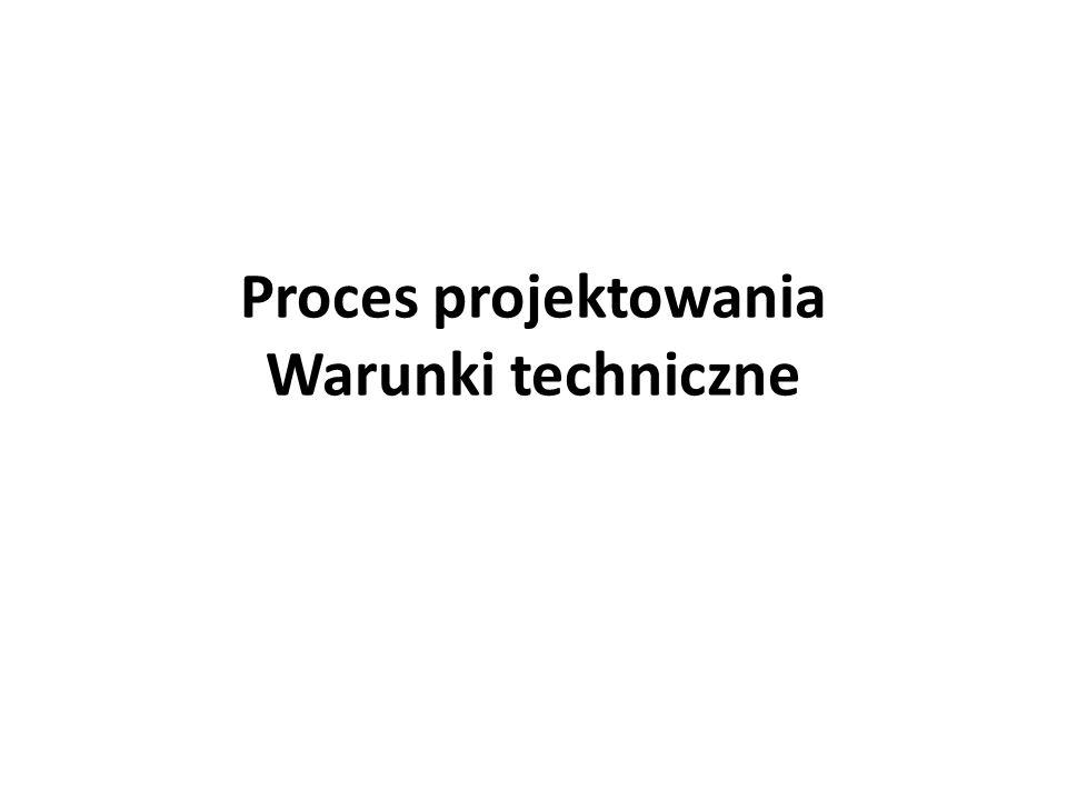 Proces projektowania Warunki techniczne