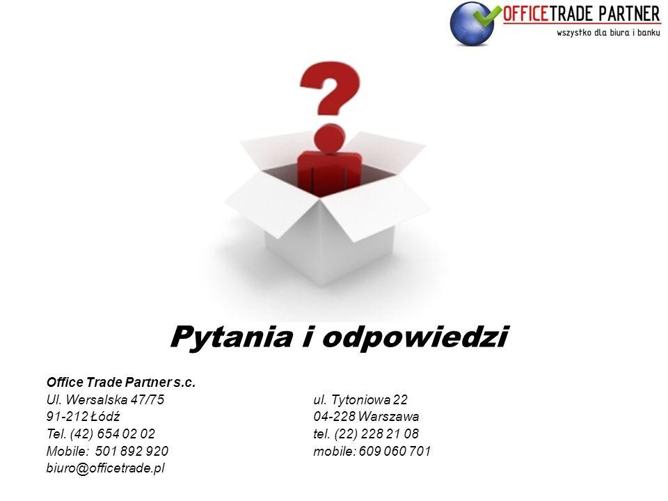 Pytania i odpowiedzi Office Trade Partner s.c.
