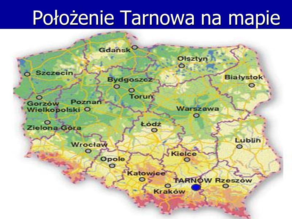 Położenie Tarnowa na mapie