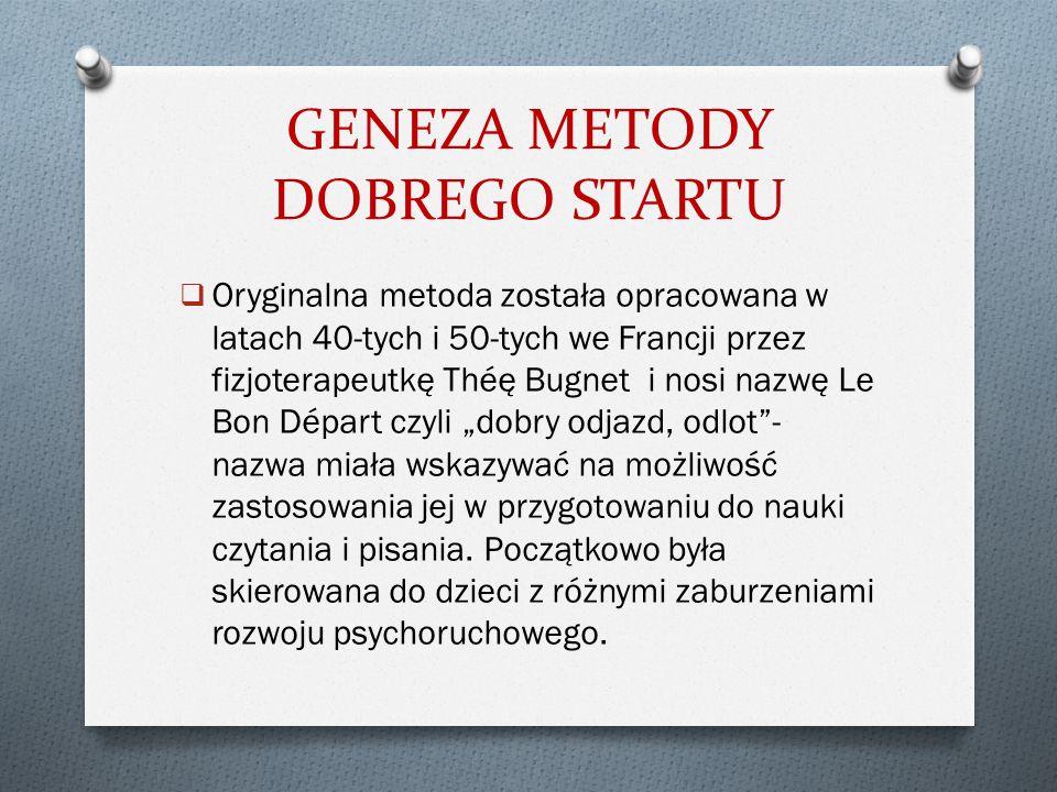 GENEZA METODY DOBREGO STARTU