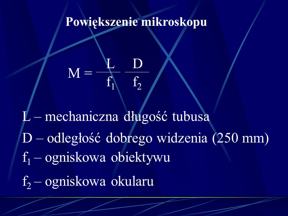 L – mechaniczna długość tubusa