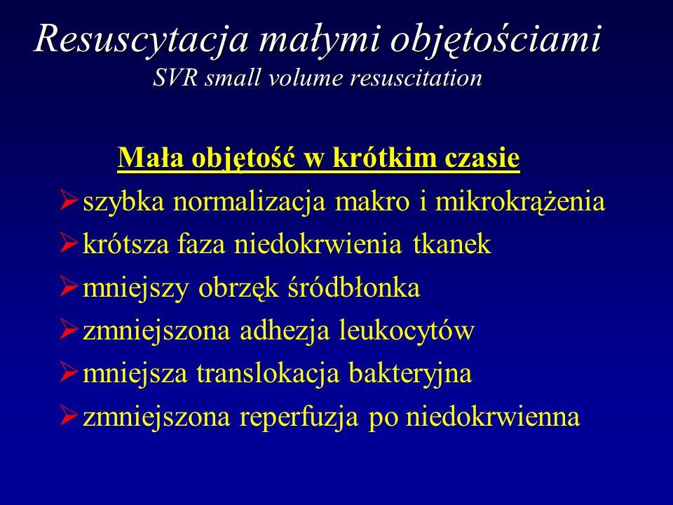 Resuscytacja małymi objętościami SVR small volume resuscitation