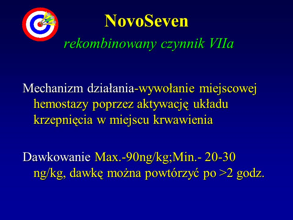 NovoSeven rekombinowany czynnik VIIa
