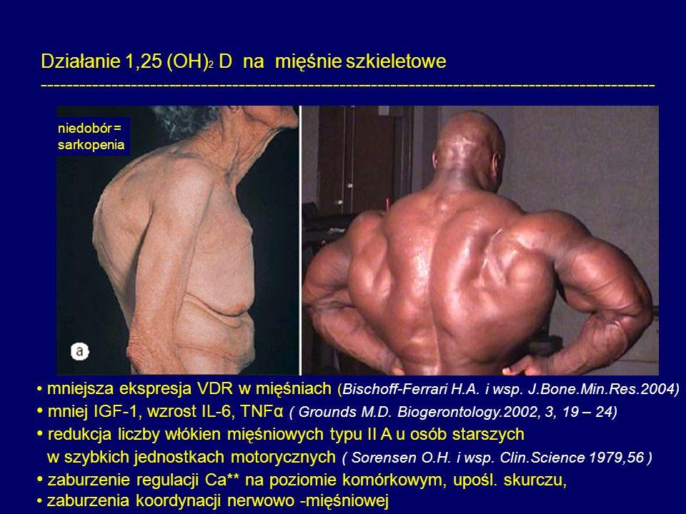 Działanie 1,25 (OH)2 D na mięśnie szkieletowe