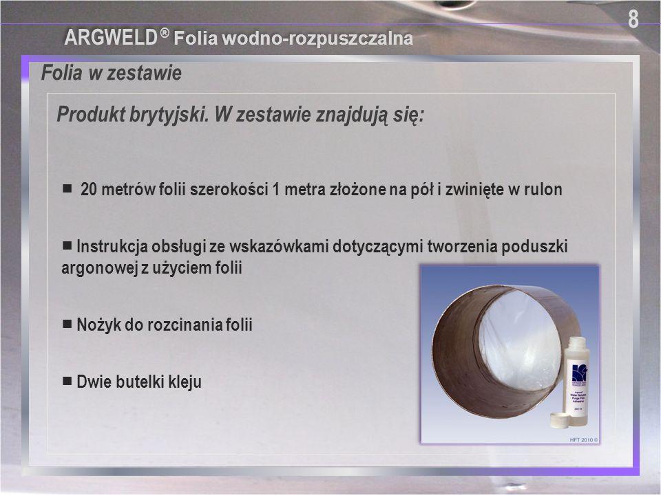 8 Folia w zestawie Produkt brytyjski. W zestawie znajdują się:
