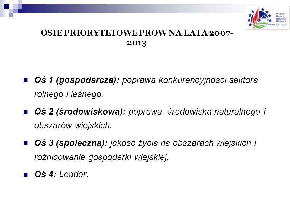 OSIE PRIORYTETOWE PROW NA LATA 2007-2013