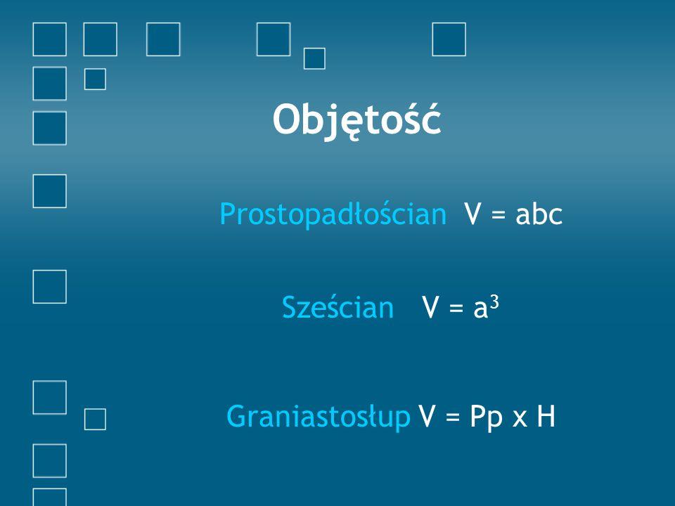 Prostopadłościan V = abc