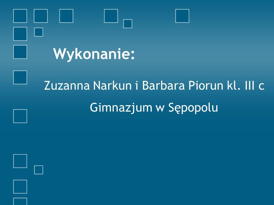 Zuzanna Narkun i Barbara Piorun kl. III c