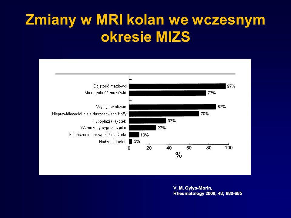 Zmiany w MRI kolan we wczesnym okresie MIZS