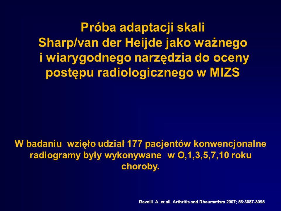 Próba adaptacji skali Sharp/van der Heijde jako ważnego i wiarygodnego narzędzia do oceny postępu radiologicznego w MIZS